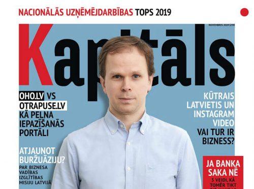 """Žurnāla """"Kapitāls"""" novembra numurā – Nacionālā kapitāla uzņēmumu tops"""